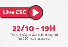 Live CSC com Ismael  Silveira